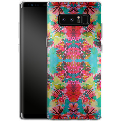 Samsung Galaxy Note 8 Silikon Handyhuelle - Tropical Floral von Amy Sia