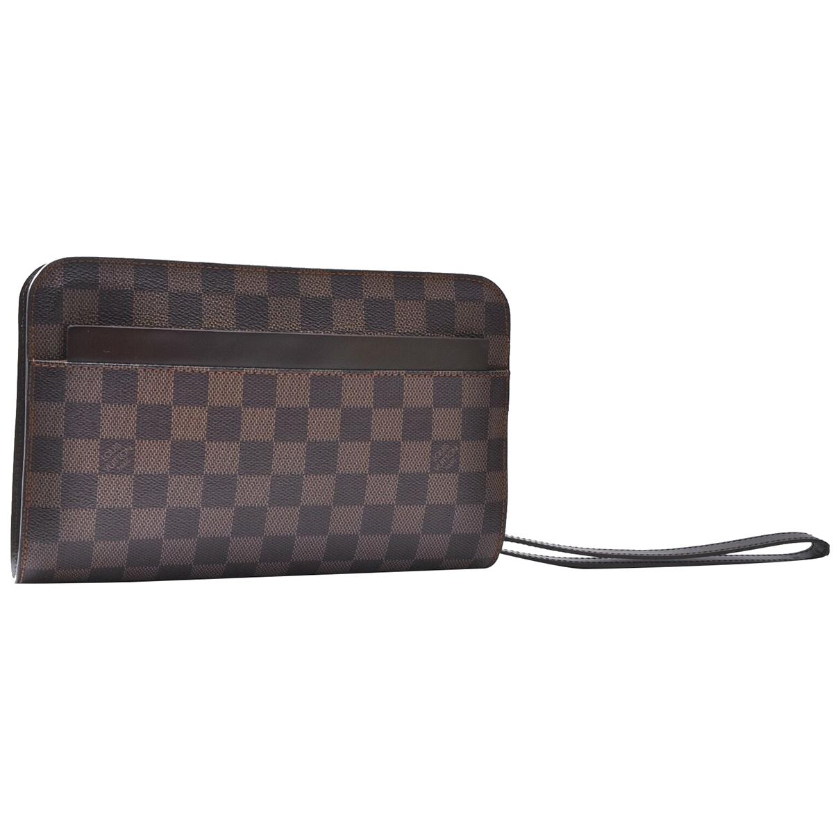 Louis Vuitton - Pochette Saint-Louis pour femme en toile - marron