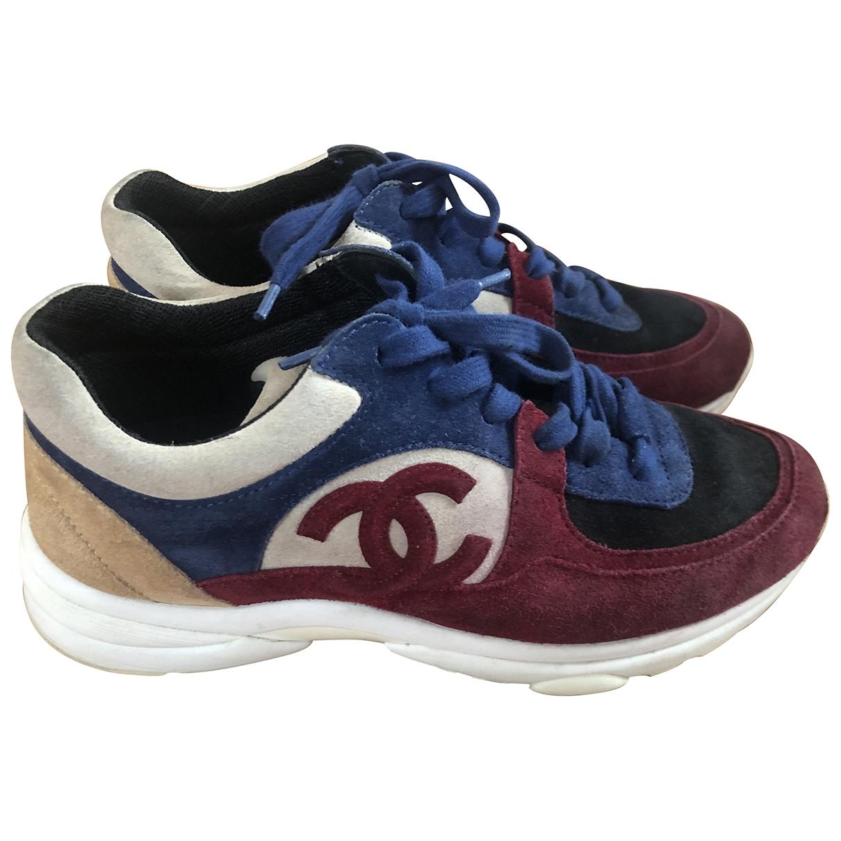 Chanel \N Sneakers in  Marine Veloursleder