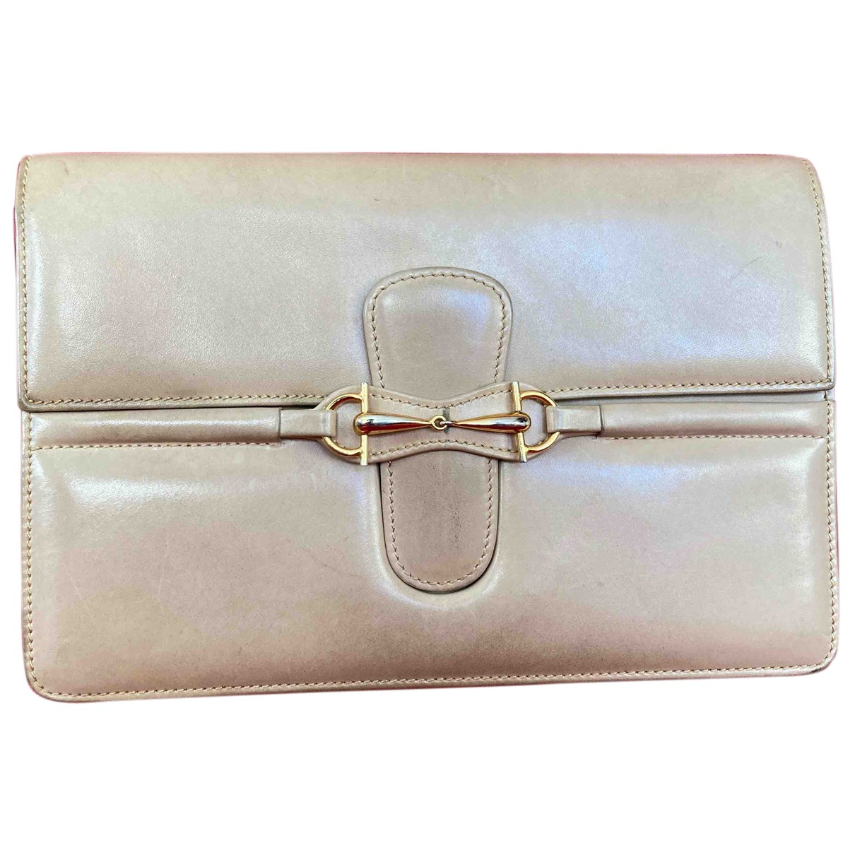 Gucci N Beige Leather Clutch bag for Women N