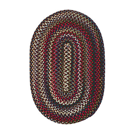 Colonial Mills American Pride Braided Oval Reversible Indoor Rugs, One Size , Red