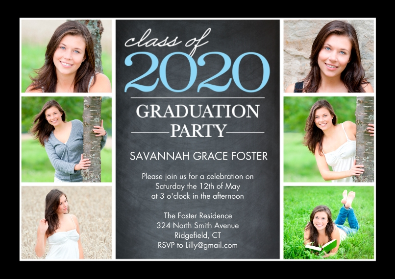 2020 Graduation Invitations 5x7 Cards, Premium Cardstock 120lb with Scalloped Corners, Card & Stationery -Graduation 2020 Party by Tumbalina