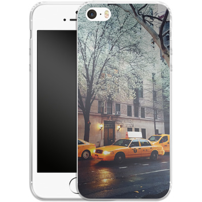 Apple iPhone SE Silikon Handyhuelle - NYC Yellow Cabs von Omid Scheybani