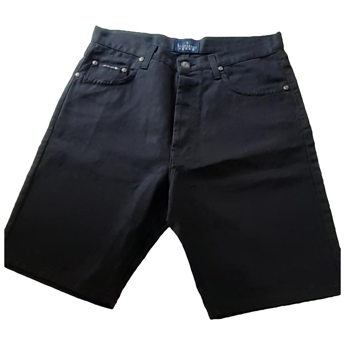Trussardi Jeans \N Shorts in  Schwarz Baumwolle