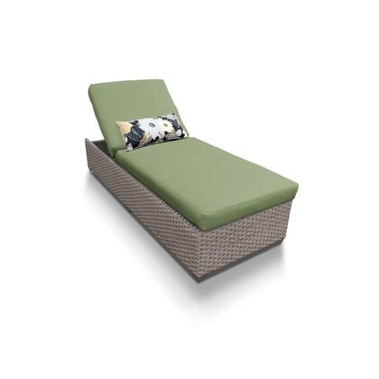 OASIS-1x-CILANTRO Oasis Chaise Outdoor Wicker Patio Furniture with 2 Covers: Grey and