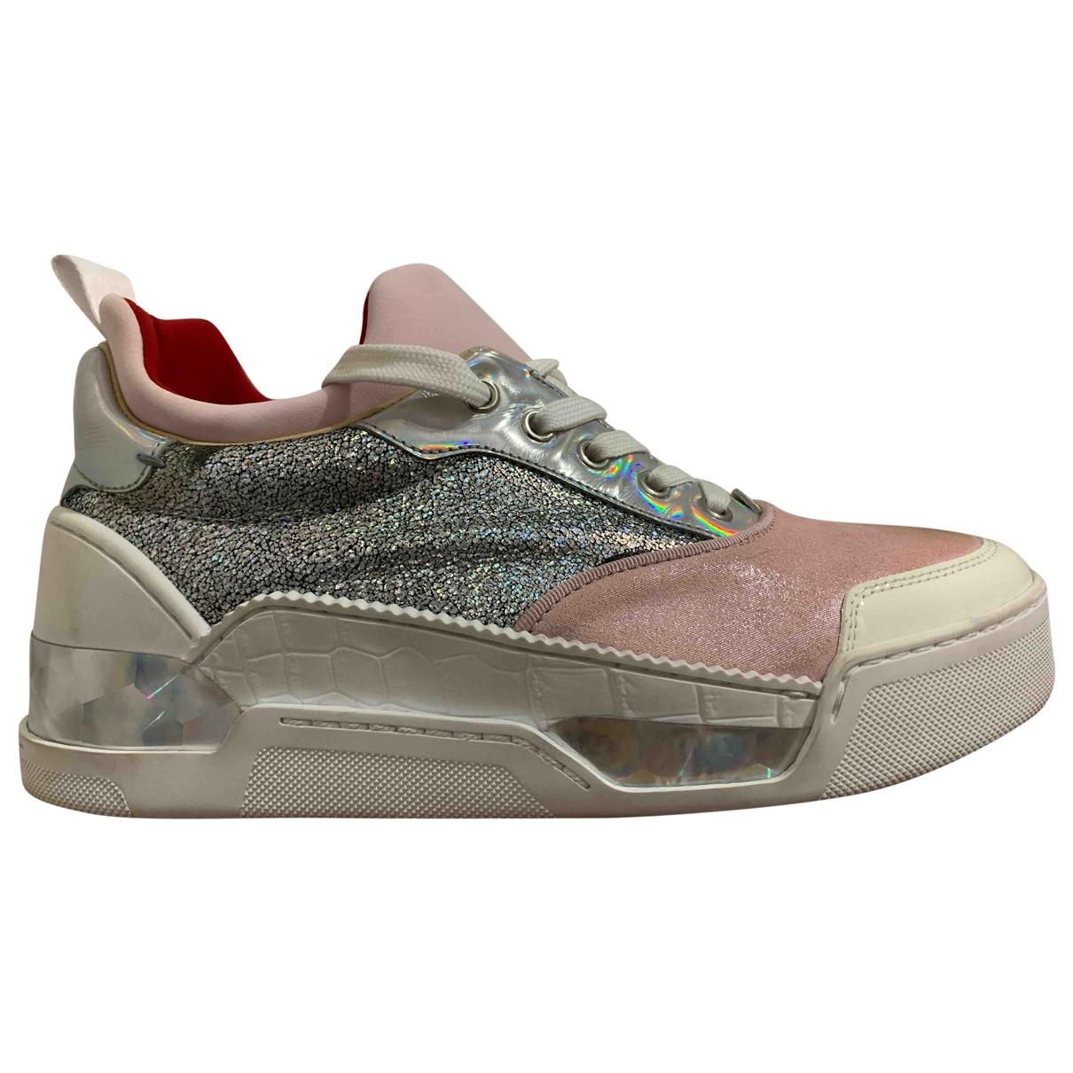 Christian Louboutin Red Runner Donna Glitter Sunset Sneakers in  Bunt Lackleder