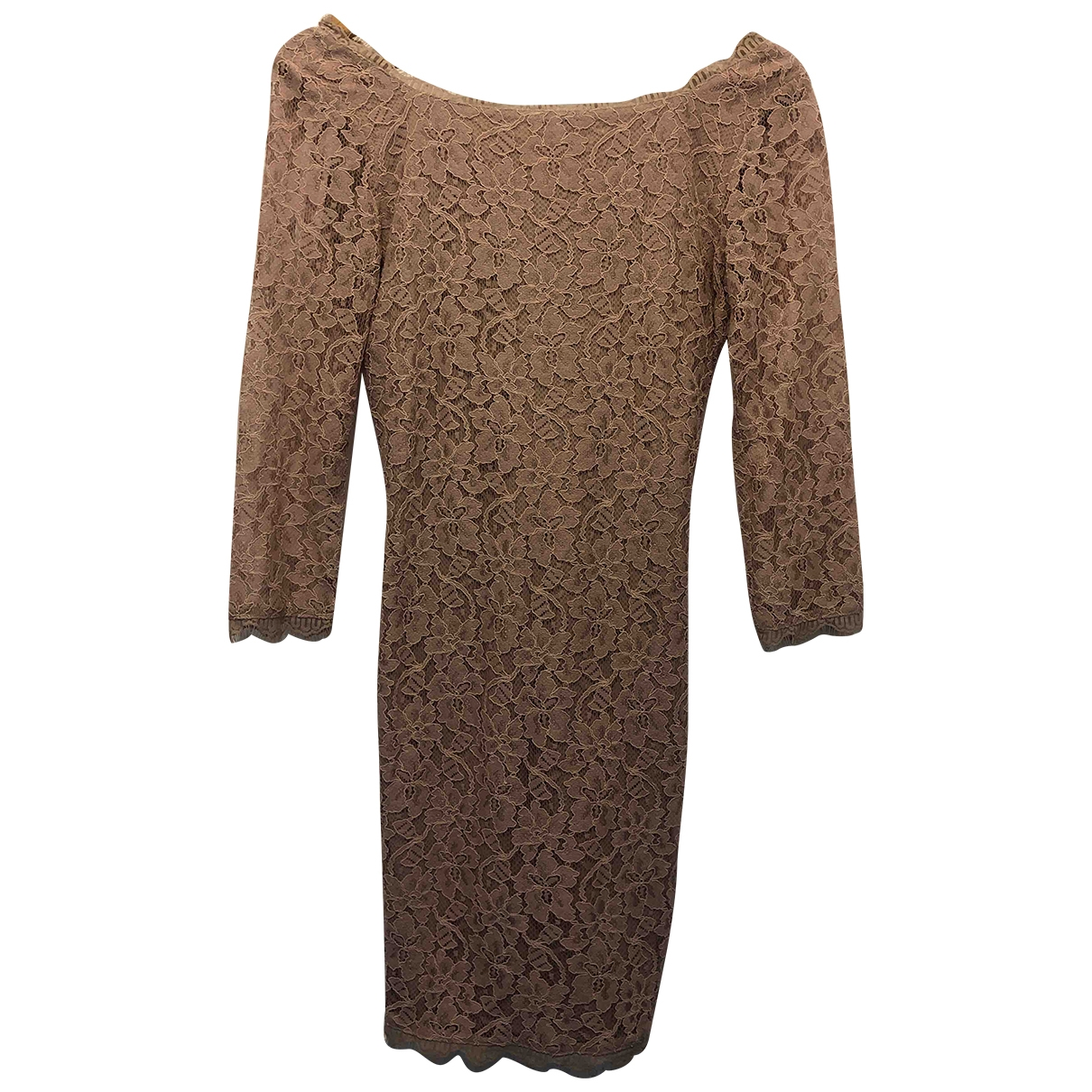 Diane Von Furstenberg \N Kleid in  Kamel Viskose