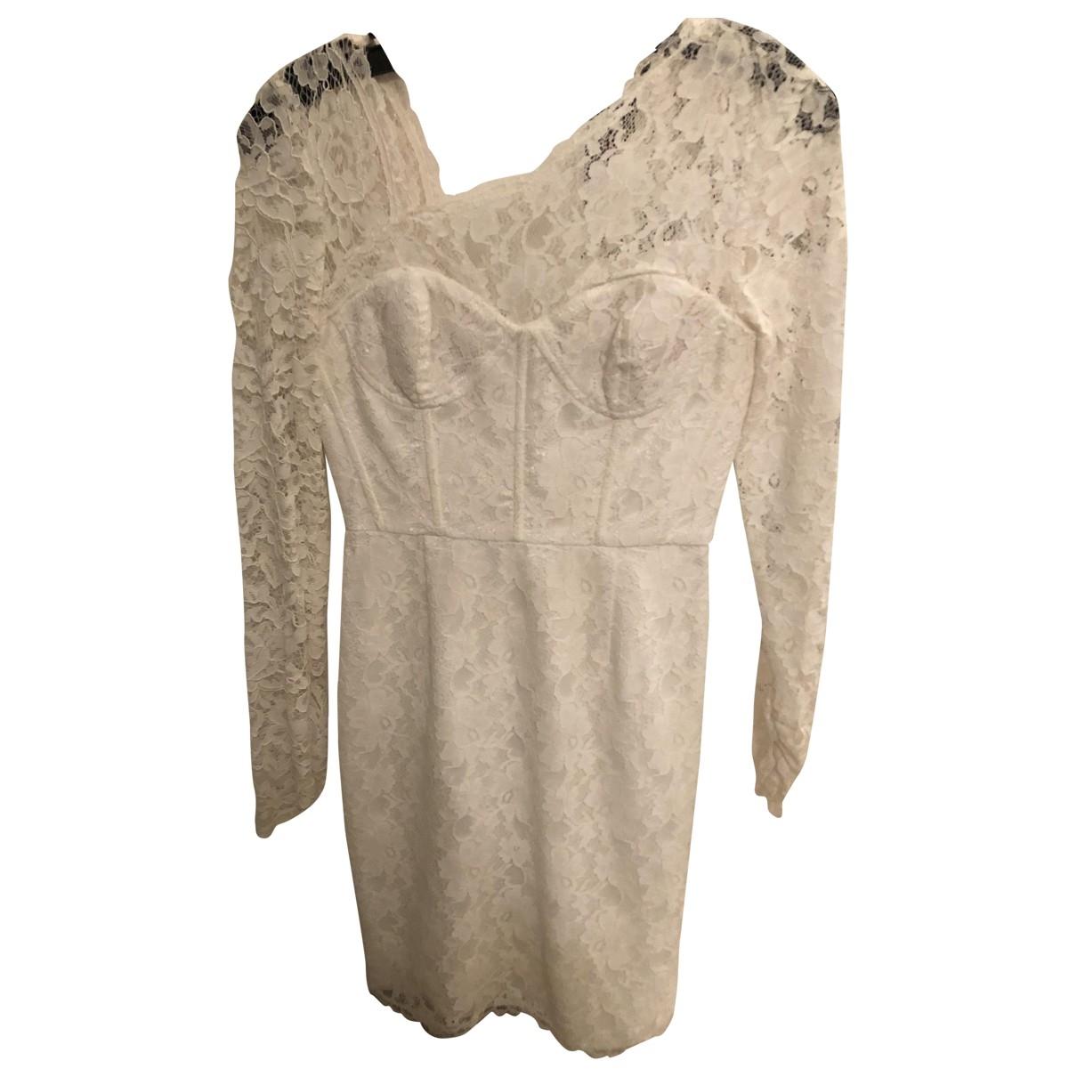 Bcbg Max Azria \N White Lace dress for Women 36 FR