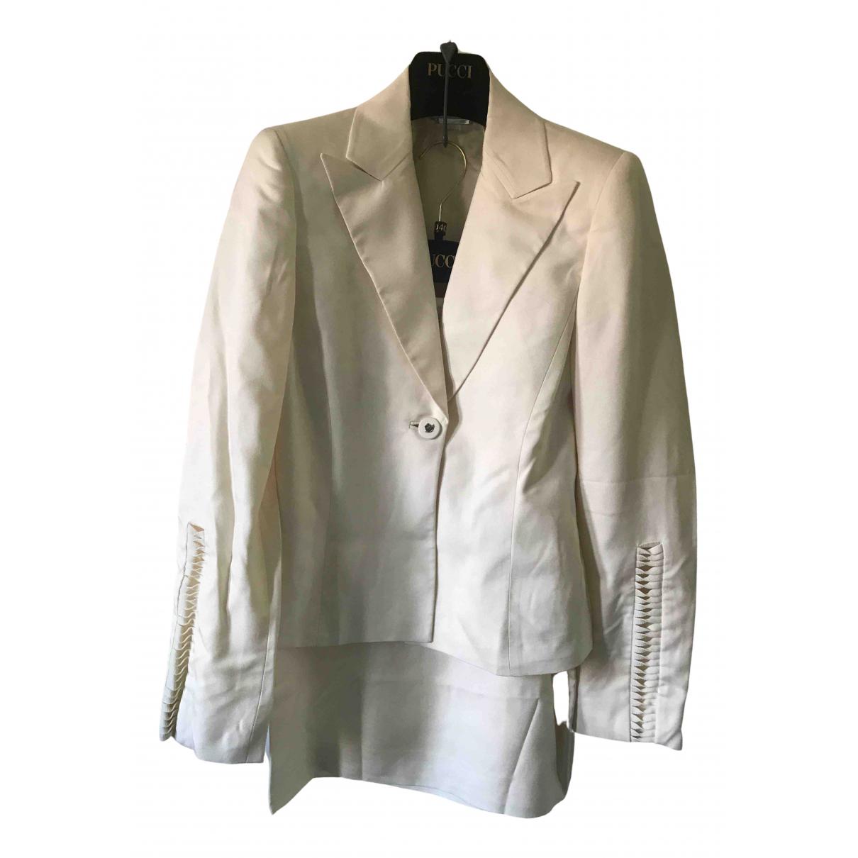 Gianni Versace N Ecru Silk jacket for Women 38 IT