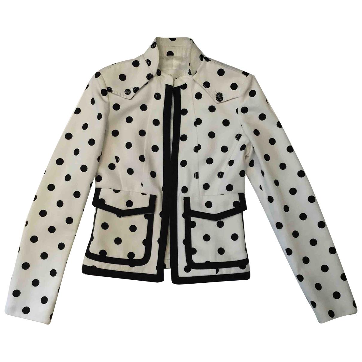 Valentino Garavani - Veste   pour femme en coton - blanc