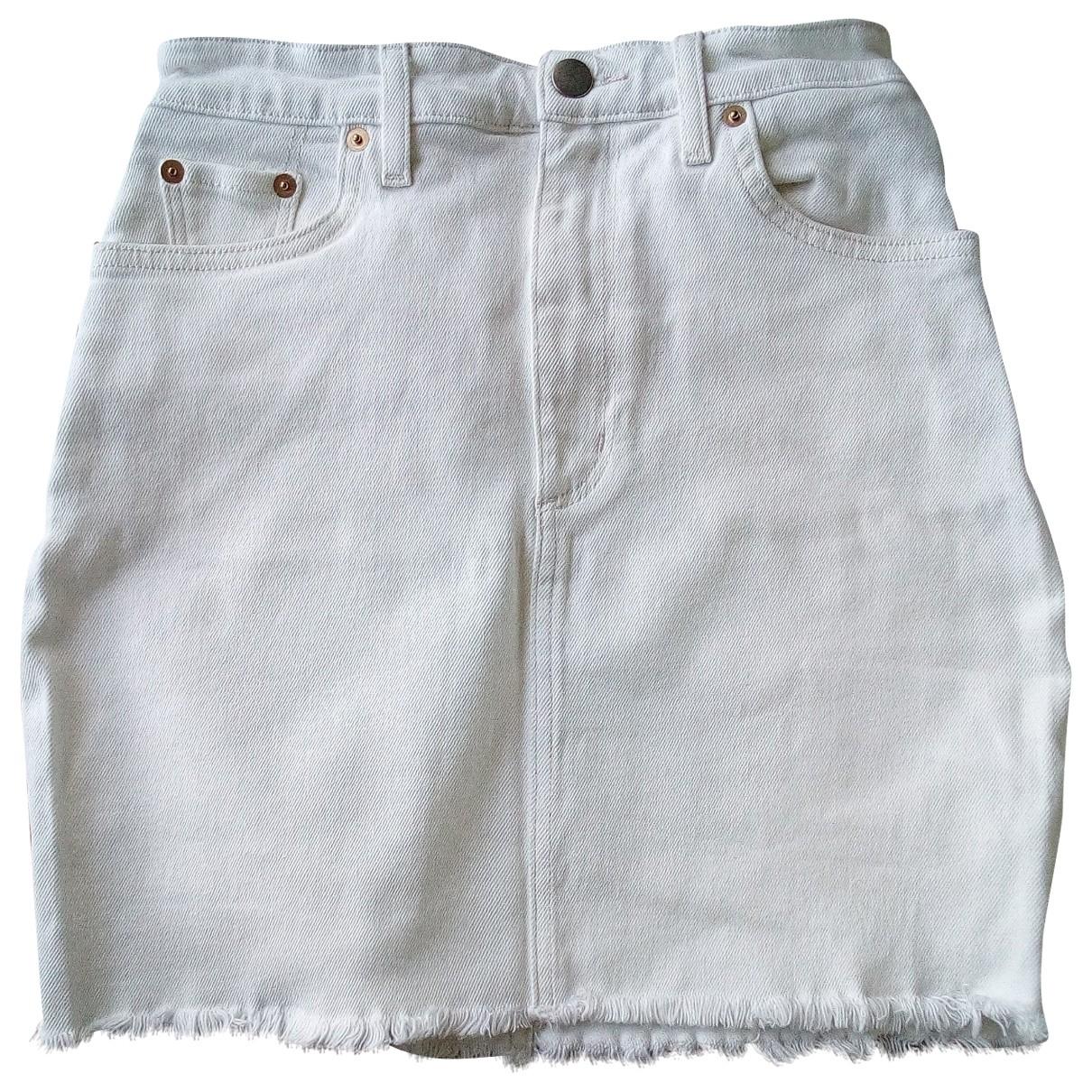 & Stories \N White Denim - Jeans skirt for Women 4 US