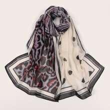 Punkten Muster Schal