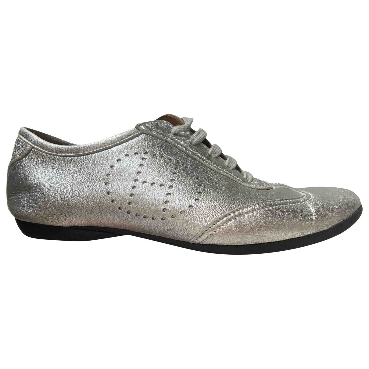 Hermès \N Silver Leather Trainers for Women 37 EU