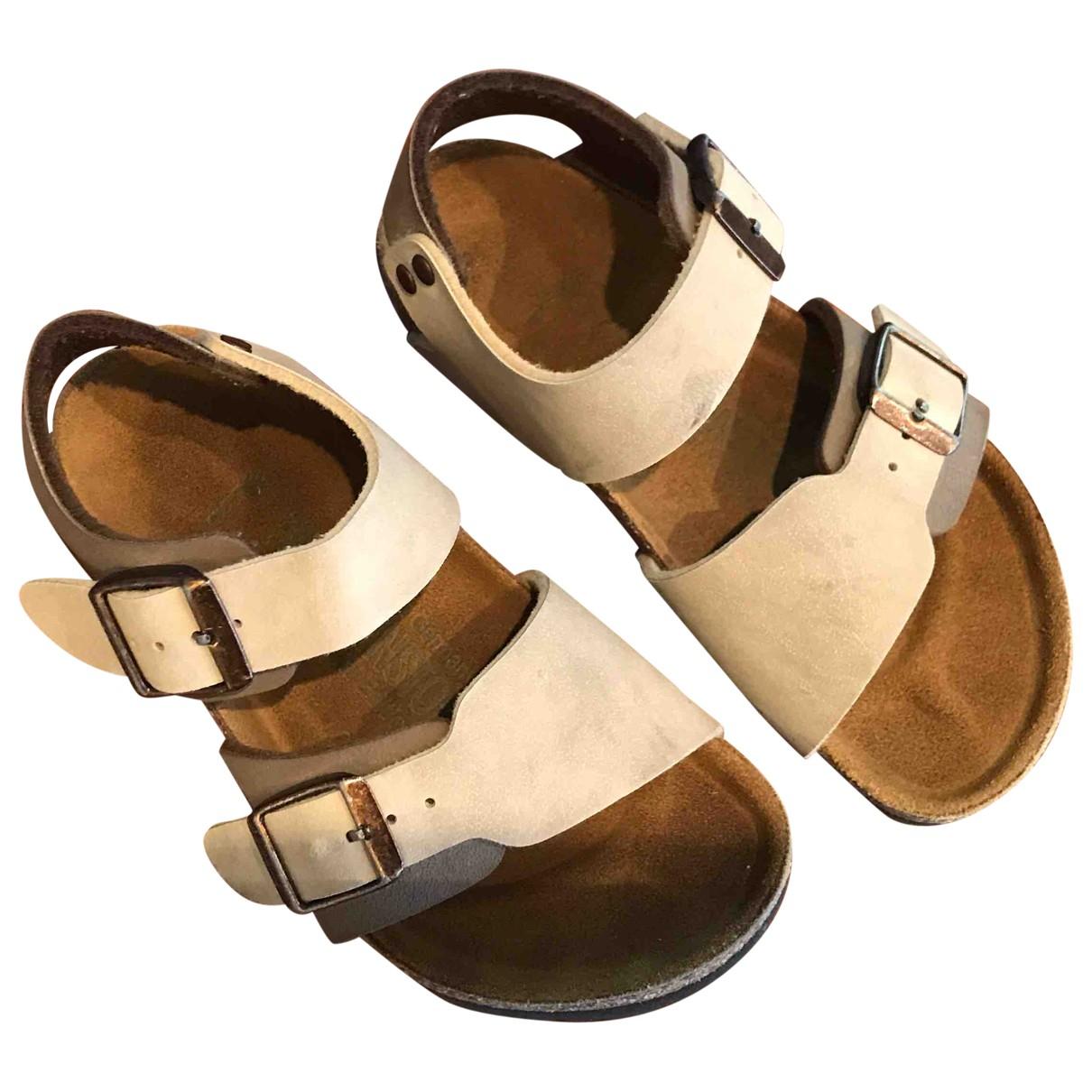 Birkenstock \N Sandalen in  Beige Veloursleder