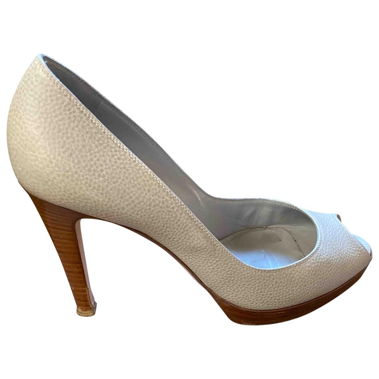 Gianvito Rossi \N Grey Leather Heels for Women 40 EU