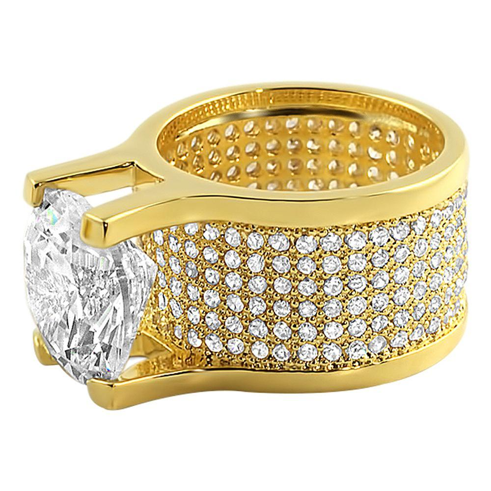 Custom Gold Eternity Ring CZ 20ct Solitaire