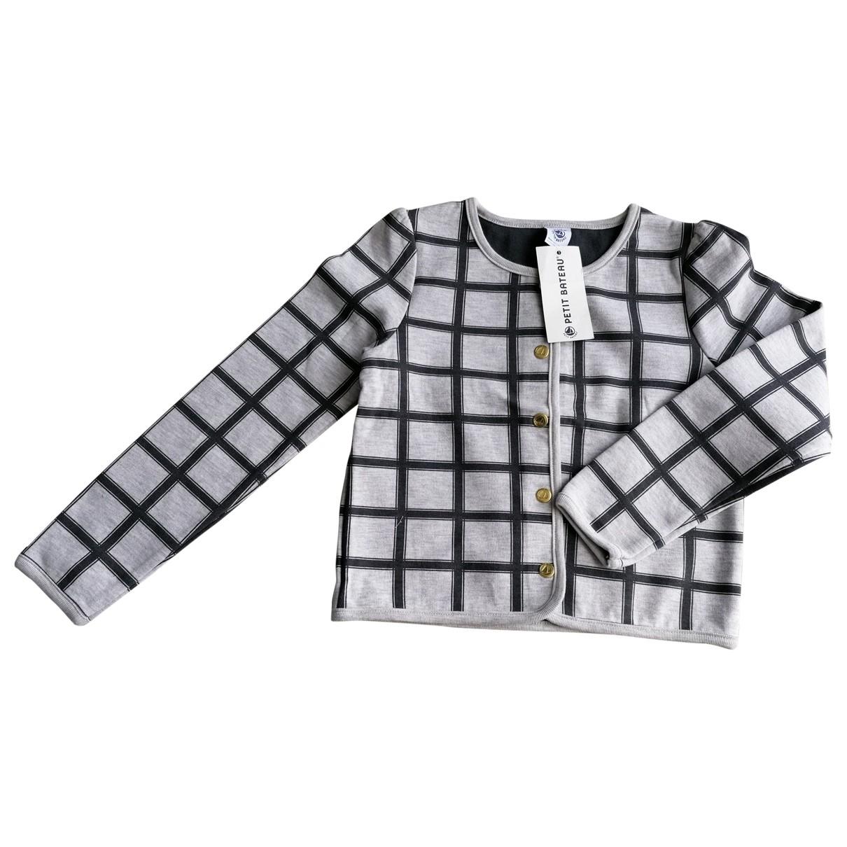 Petit Bateau - Pull   pour enfant en coton - gris