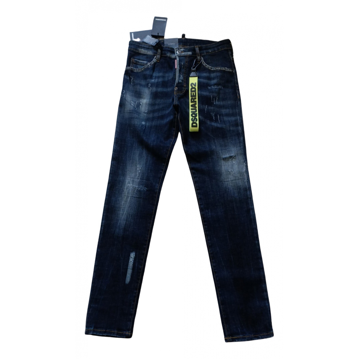 Dsquared2 \N Blue Cotton Jeans for Men 38 - 40 FR