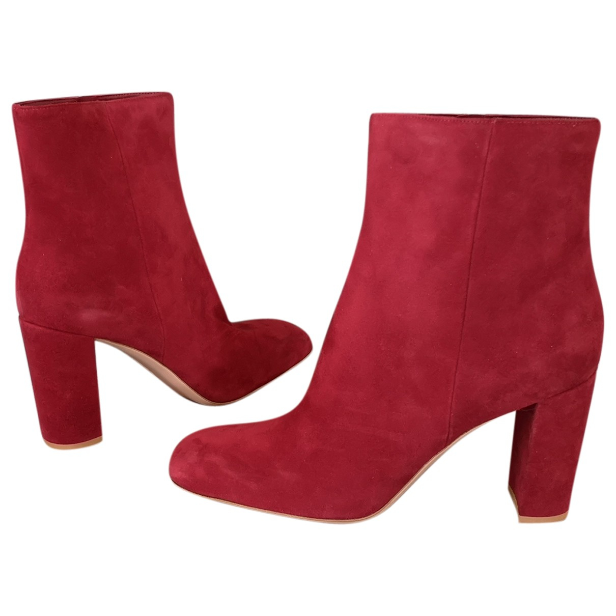 Gianvito Rossi N Red Suede Ankle boots for Women 41 EU