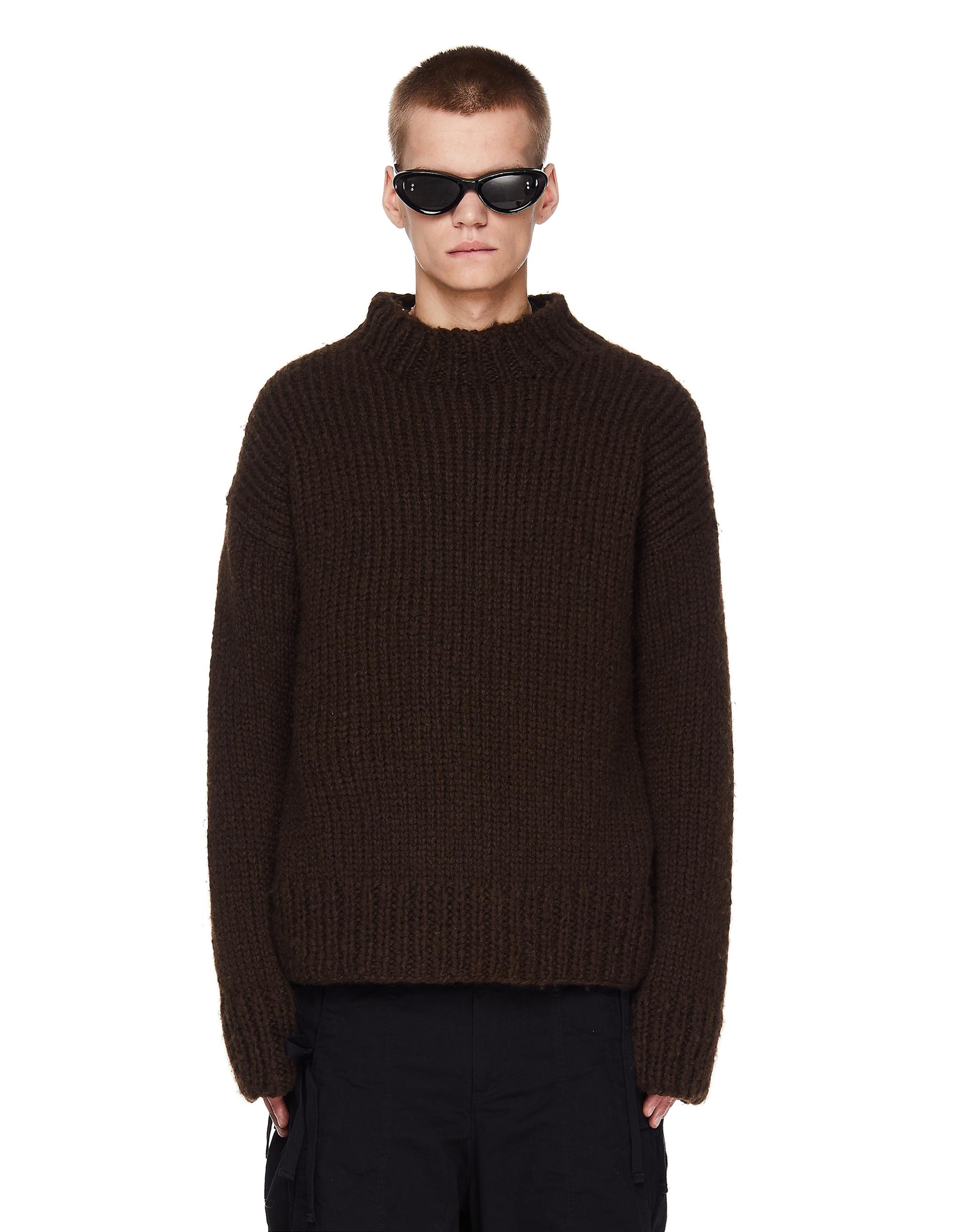 Jil Sander Brown Wool Sweater