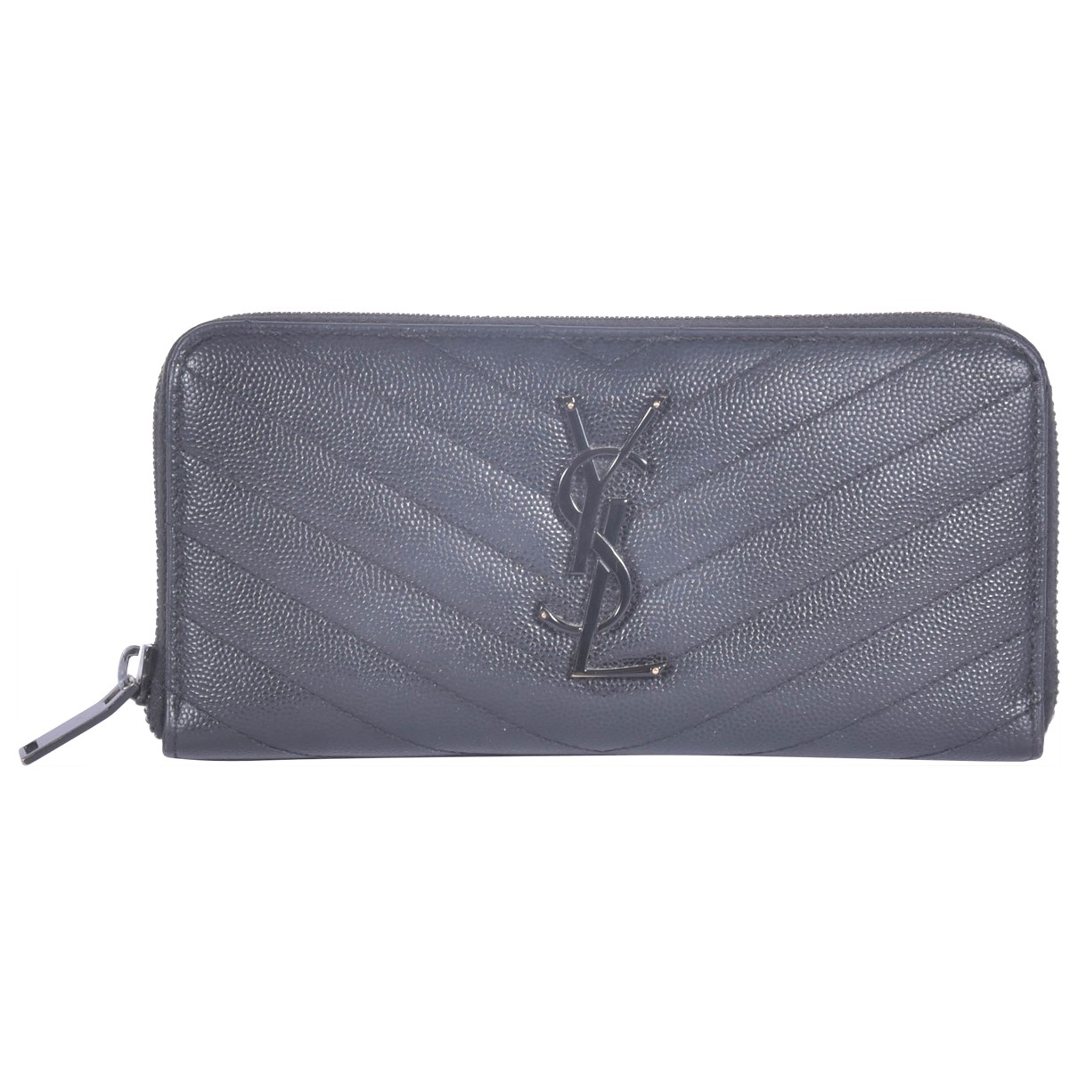 Saint Laurent Monogramme Black Leather wallet for Women \N