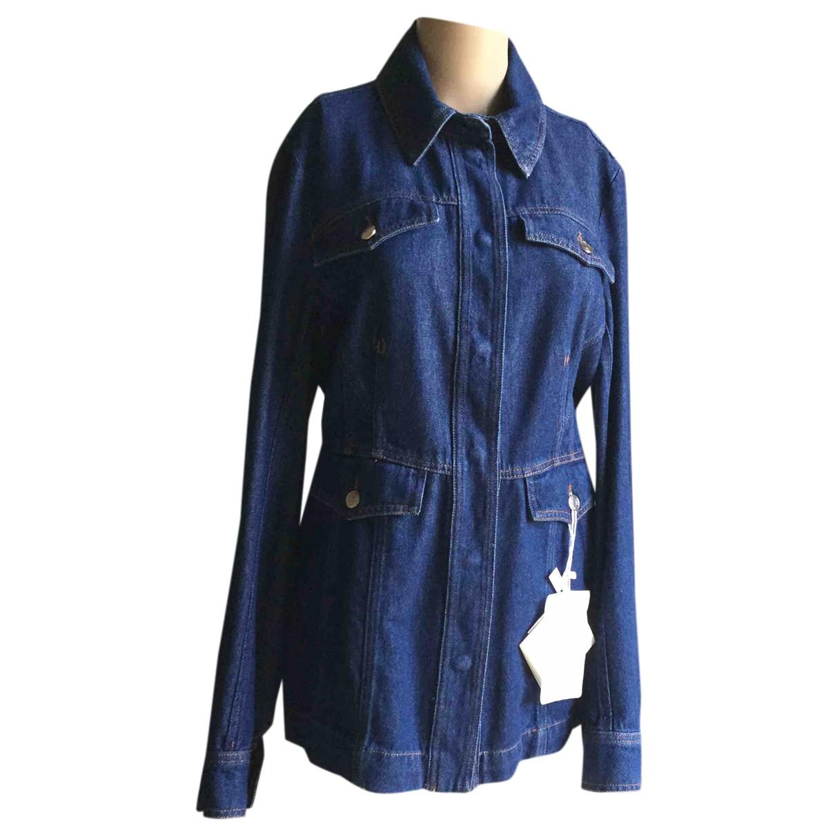 Sport Max N Blue Cotton jacket for Women 46 IT
