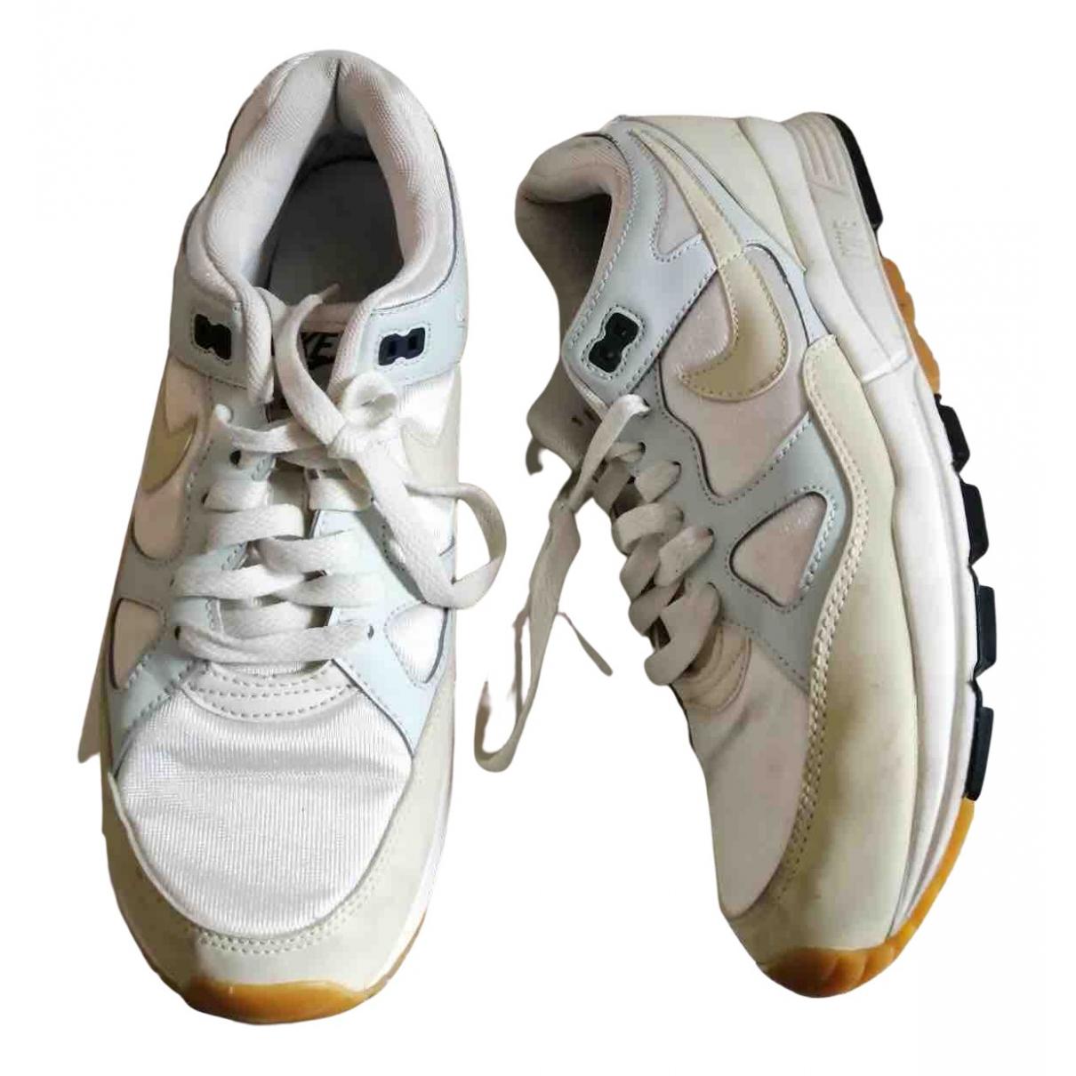 Nike - Baskets Air Span II pour homme en toile - blanc