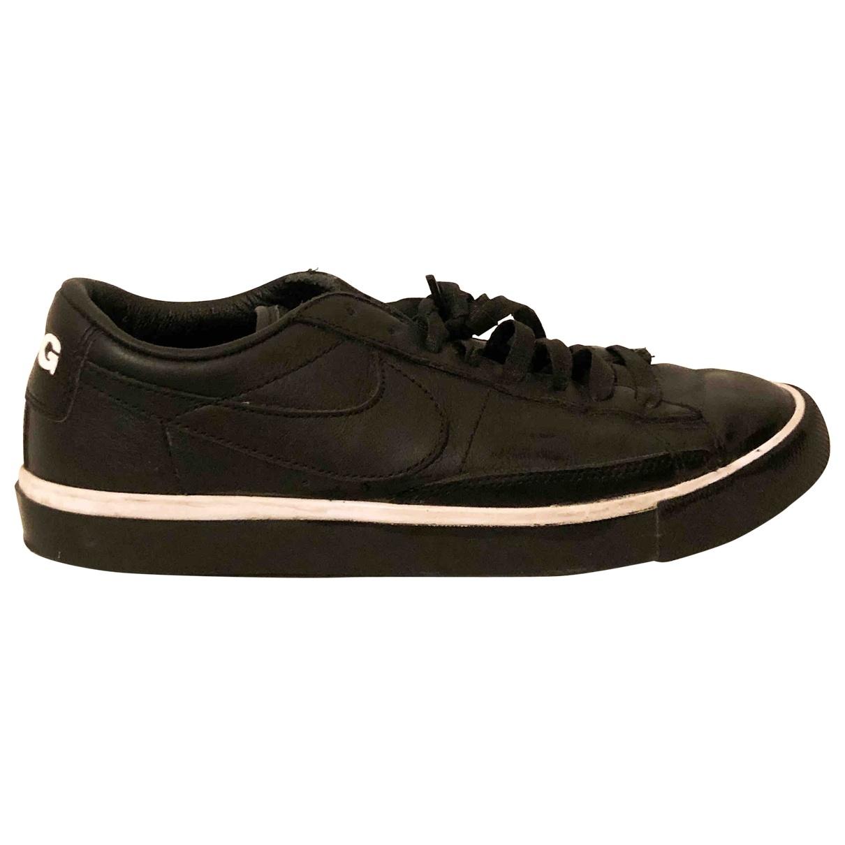 Nike X Comme Des Garcons - Baskets Blazer pour femme en cuir - noir