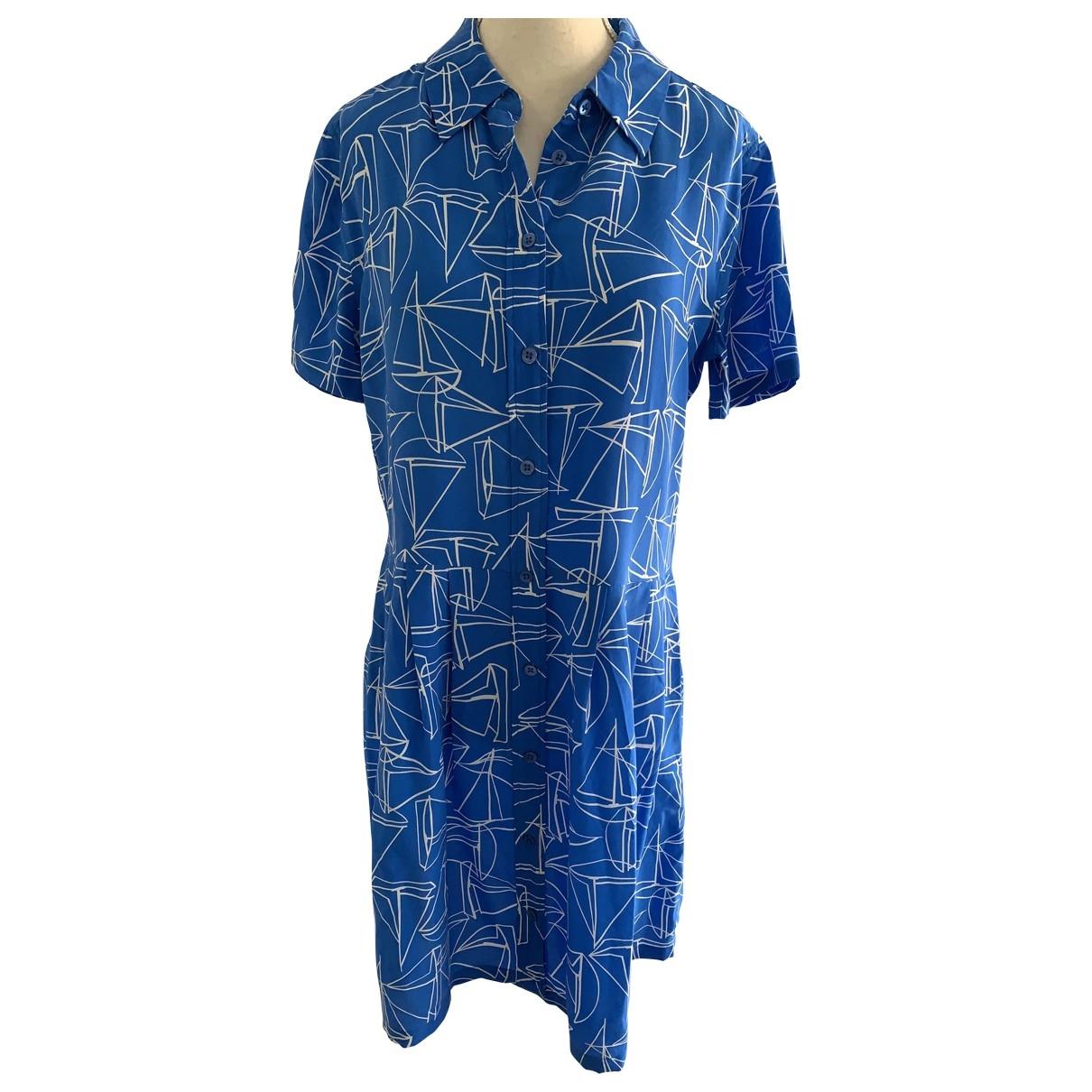 Equipment \N Kleid in  Blau Seide