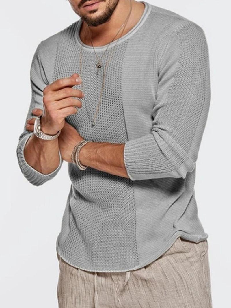 Ericdress Standard Round Neck Plain Slim Fall Sweater