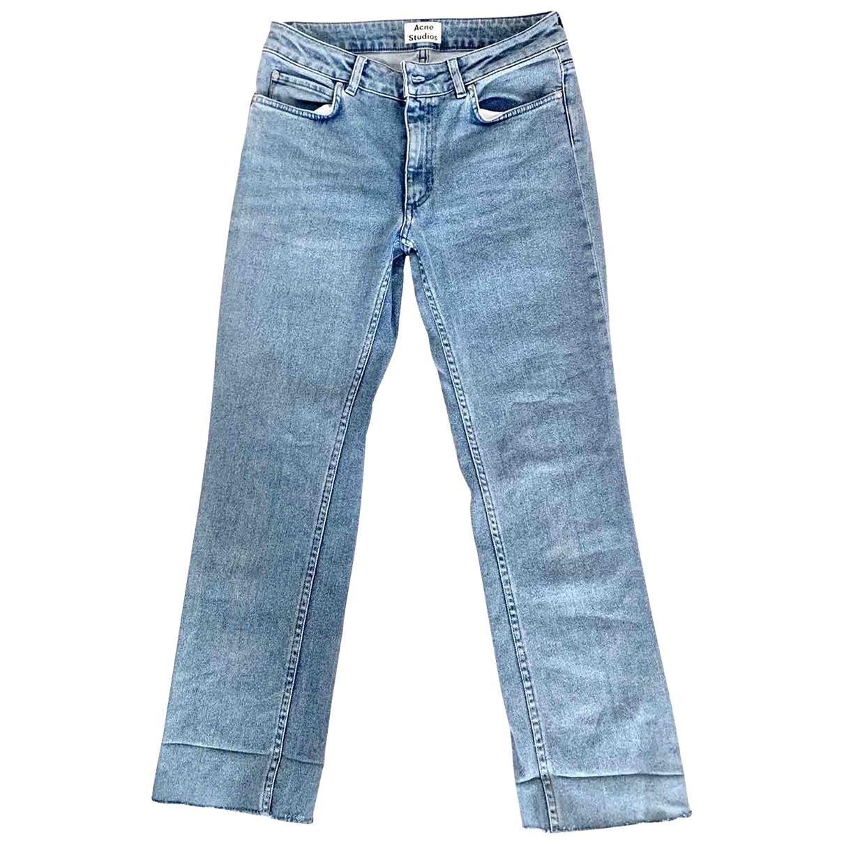 Acne Studios \N Blue Cotton - elasthane Jeans for Women 38 FR