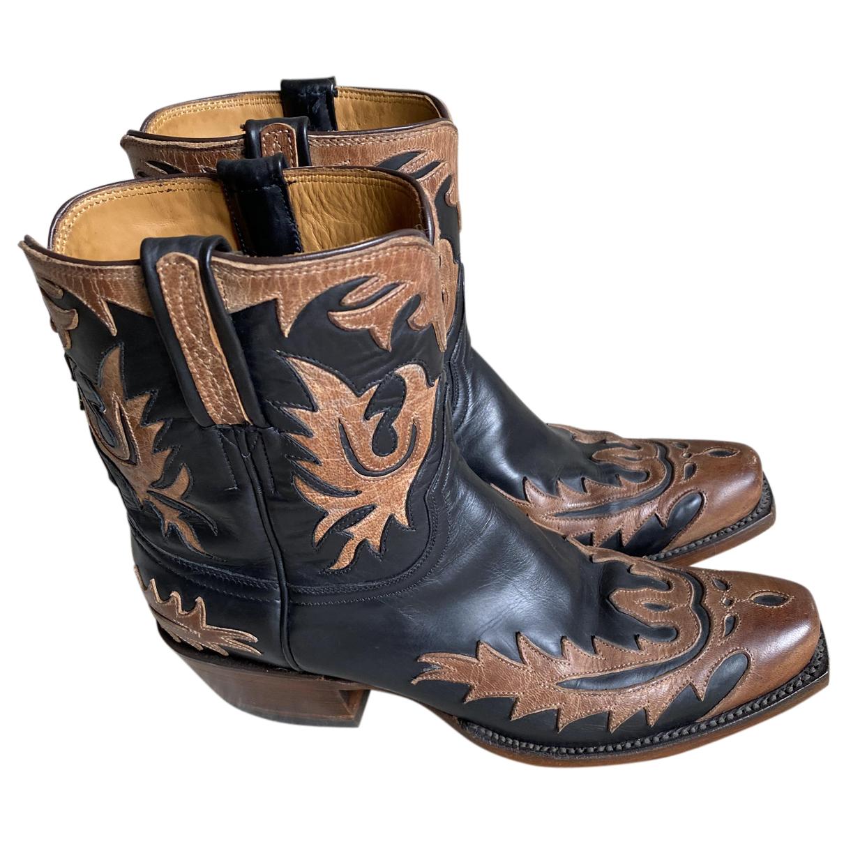 Lucchese \N Stiefel in  Schwarz Leder
