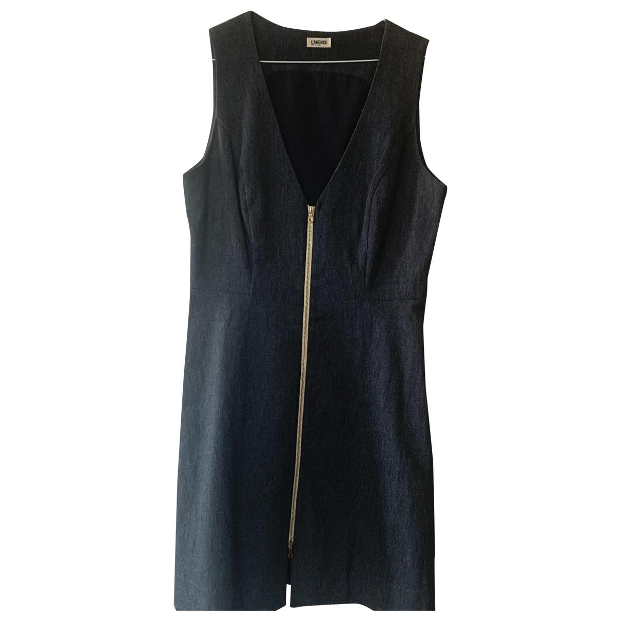 Lagence - Robe   pour femme en coton - bleu