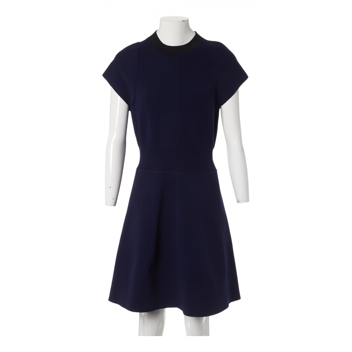 Louis Vuitton \N Kleid in  Marine Polyester