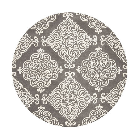 Safavieh Glamour Collection Aubrey Damask Round Area Rug, One Size , Multiple Colors
