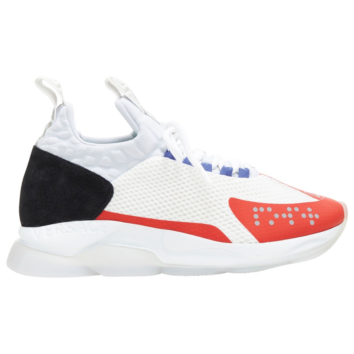 Versace \N White Cloth Trainers for Men 43 EU
