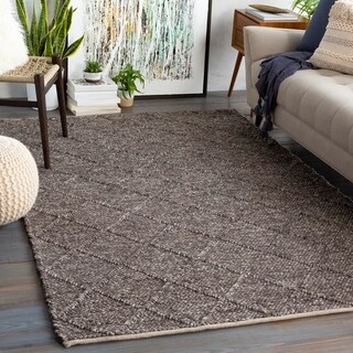 Carson Carrington Taxnas Handmade Wool Blend Nordic Area Rug (6' x 9' - Dark Brown)
