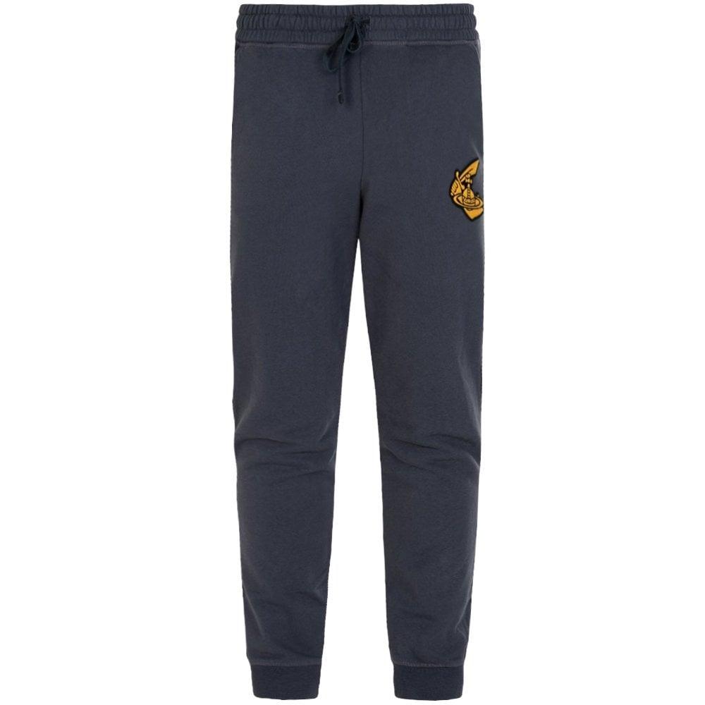 Vivienne Westwood Anglomania Classic Logo Sweat Pants Colour: NAVY, Size: MEDIUM