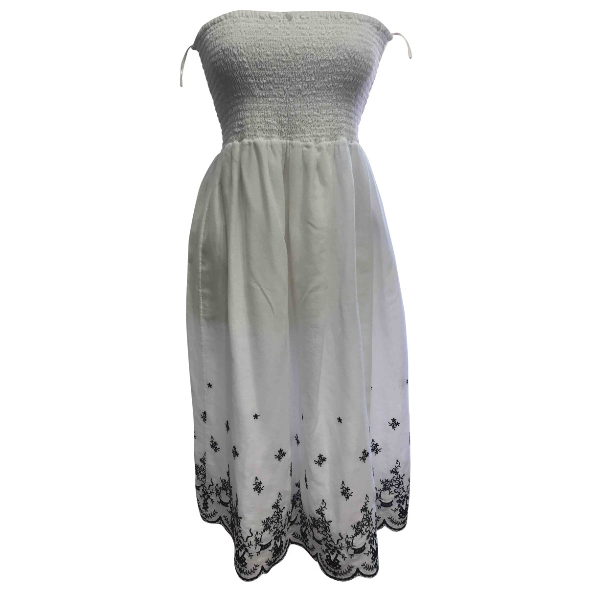 Fabiana Filippi \N White Cotton dress for Women 44 IT