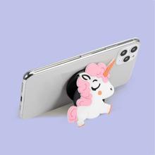 1 pieza soporte de dedo plegable de celular de dibujos animados
