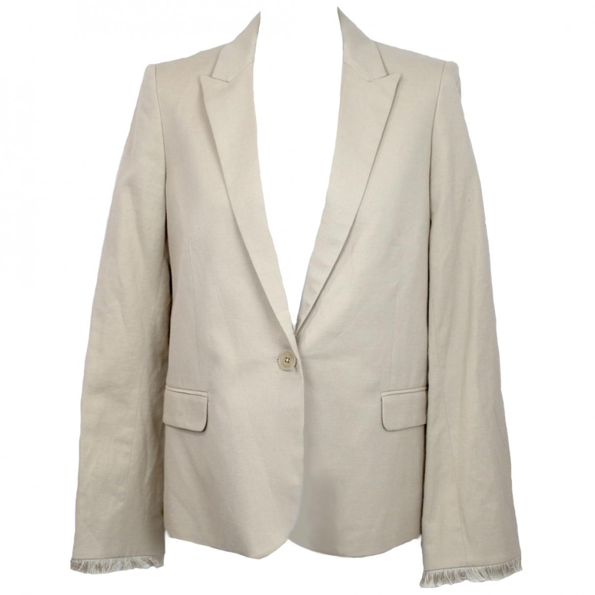 Zadig & Voltaire \N Beige Cotton jacket for Women 38 FR
