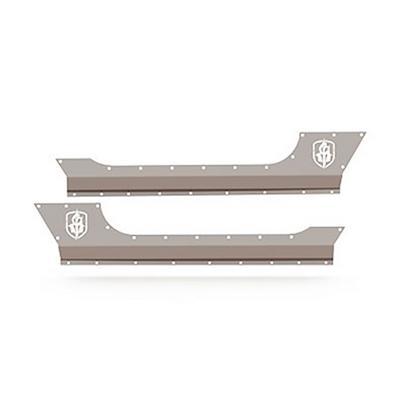 Road Armor BodyArmor Rocker Panel (2 Door) in Satin Black (Bare Steel) - JK301