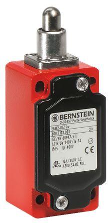 Bernstein AG ENM2 Limit Switch With Plunger Actuator, Die Cast Aluminium, 2NC