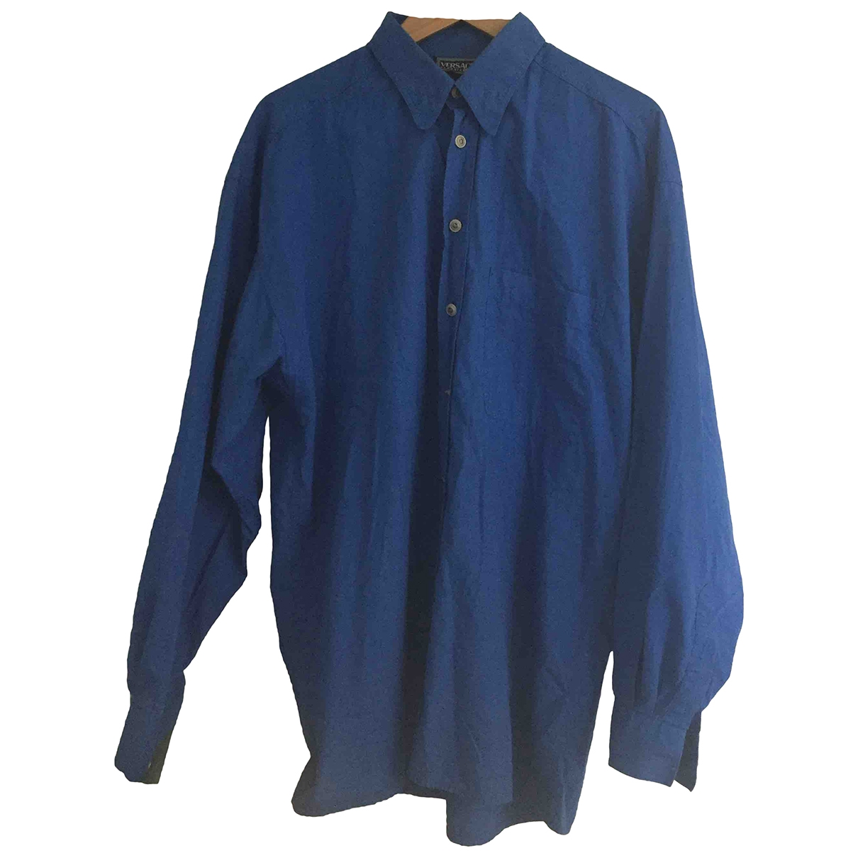 Versace \N Blue Cotton Shirts for Men L International