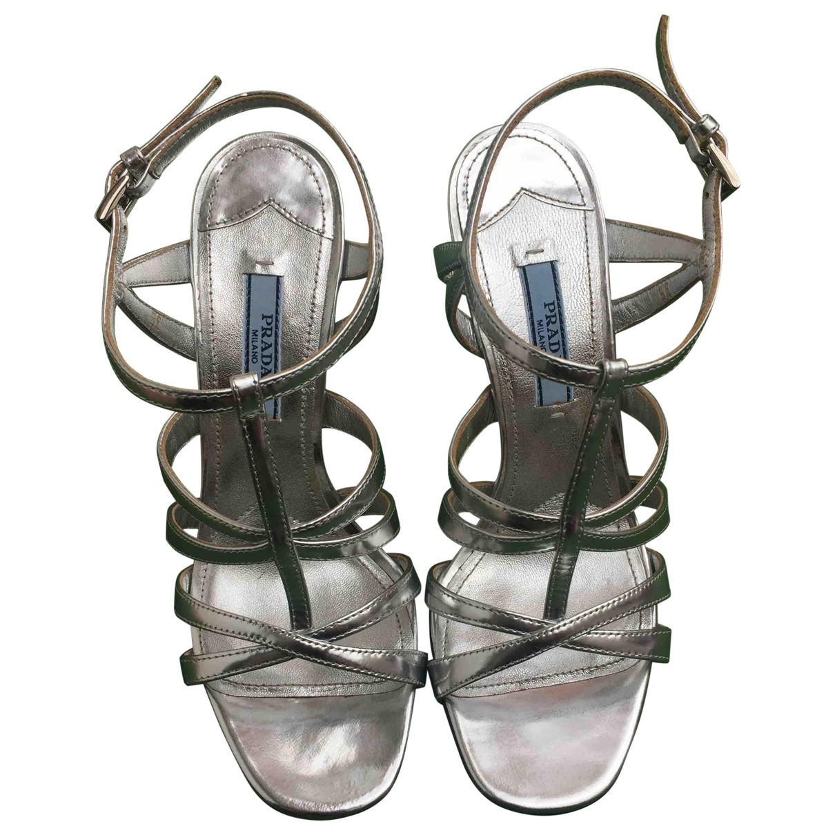 Prada \N Silver Leather Sandals for Women 35.5 EU