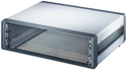Schroff , 3U Rack Mount Case Comptec Ventilated, 153 x 520 x 300mm, Grey
