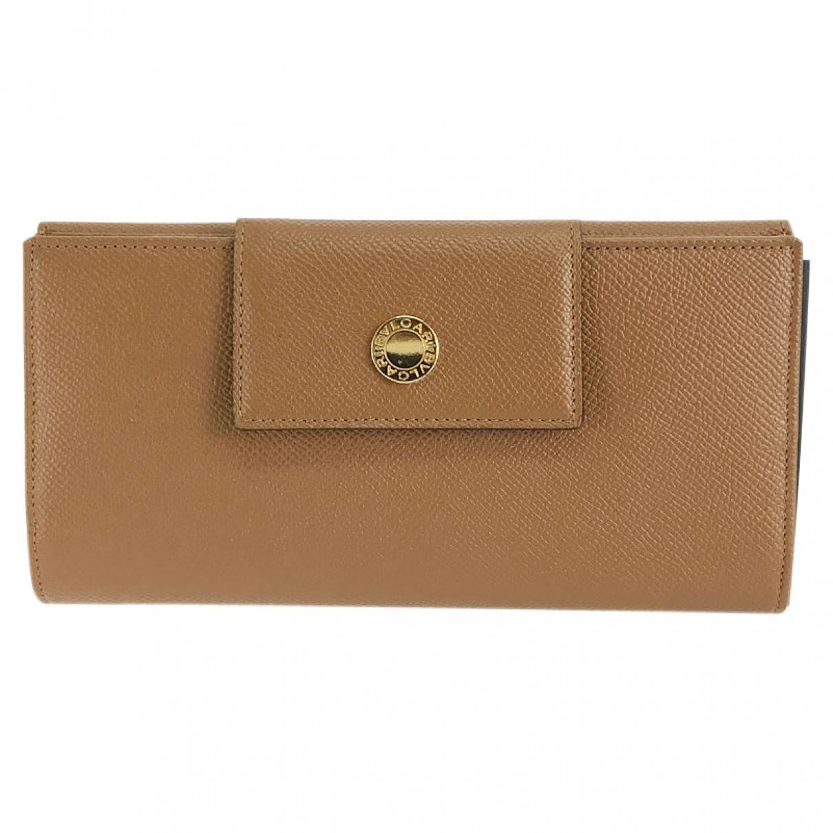 Bvlgari \N Camel Leather wallet for Women \N