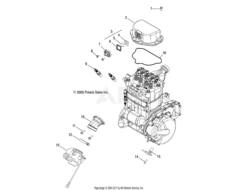 Polaris OEM 2203924 KIT-THROTTLE BODY, 1202836