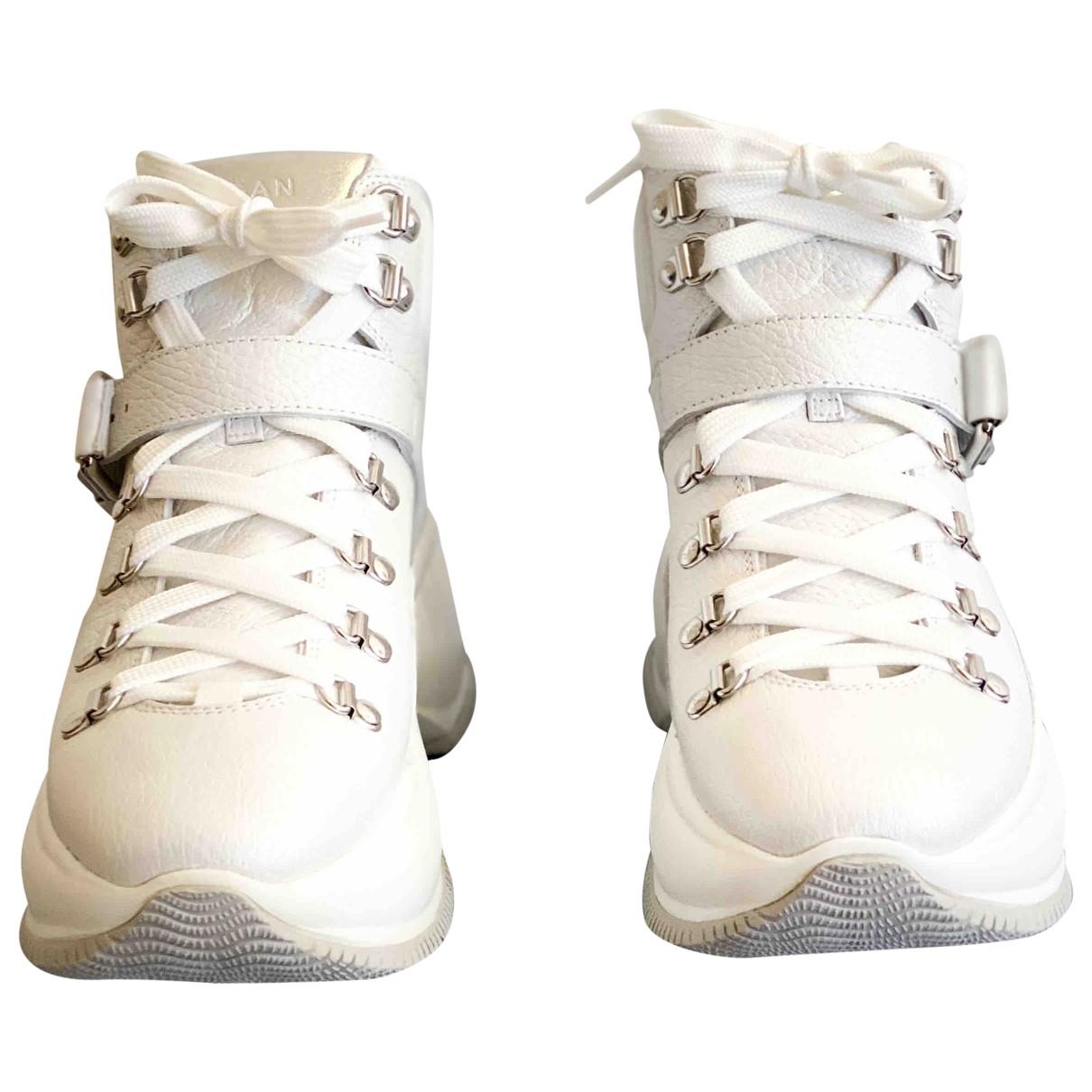 Hogan - Boots   pour femme en cuir - blanc