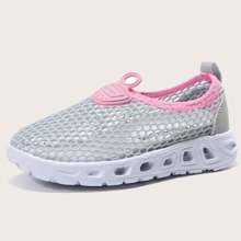 Girls Hollow Out Slip On Sneakers